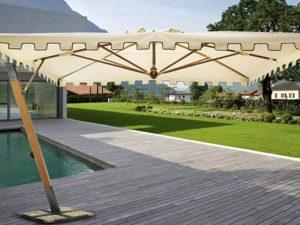Come pulire l'ombrellone da giardino